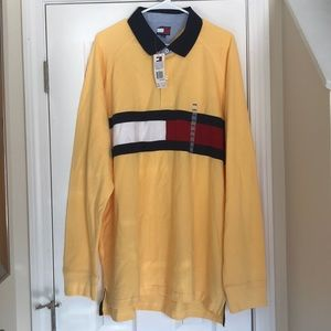Tommy Hilfiger Yellow Polo XXL Long Sleeve